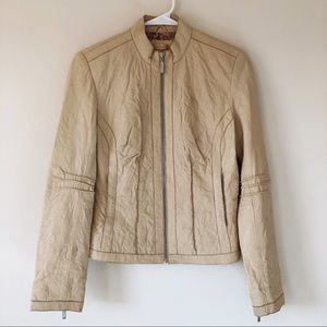 Wilsons Leather Distressed Tan Leather Jacket